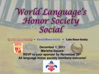 World Language's Honor Society Social