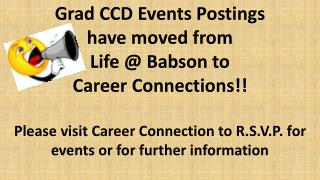 Grad CCD  Events Postings have moved from