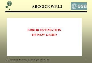 ARCGICE WP 2.2