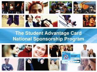 The Student Advantage Card National Sponsorship Program