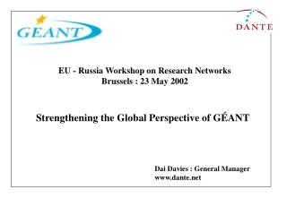 Strengthening the Global Perspective of GÉANT