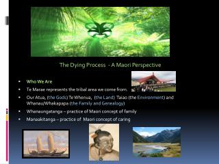 The Dying Process  - A Maori Perspective Who We Are