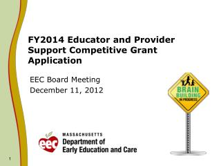 FY2014 Educator and Provider Support Competitive Grant Application