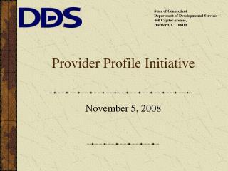 Provider Profile Initiative