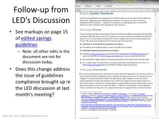 Follow-up from LED's Discussion