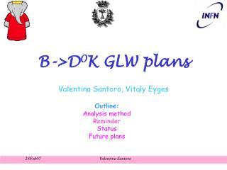 B->D 0 K GLW plans
