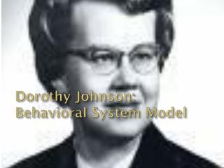Dorothy Johnson:  Behavioral System Model
