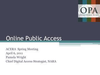 Online Public Access