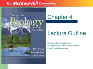 Chapter 4 Lecture Outline See PowerPoint Image Slides for all figures and tables pre-inserted into