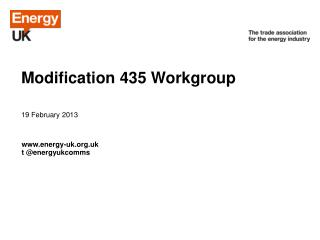 Modification 435 Workgroup
