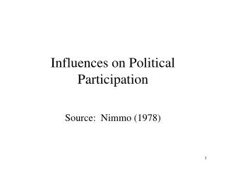 Influences on Political Participation