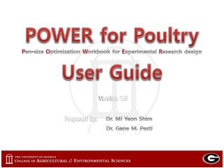 POWER  for Poultry