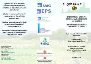 L'AGRICULTURA URBANA I PERIURBANA EN LES CIUTATS DEL SEGLE XXI