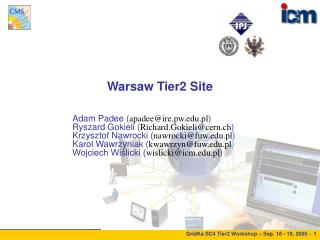 Warsaw Tier2 Site