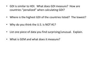 GDI and GEM questions