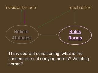individual behavior