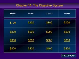 Chapter 14: The Digestive System