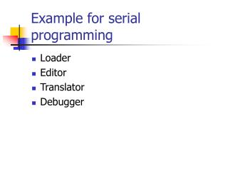 Example for serial programming