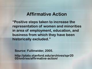 Affirmative Action