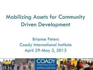 Mobilizing Assets for Community Driven Development
