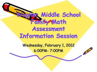 Wagner Middle School Family Math Assessment Information Session