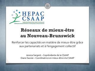 Réseaux de mieux-être  au Nouveau-Brunswick