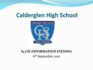 Calderglen High School