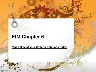 FtM Chapter 6