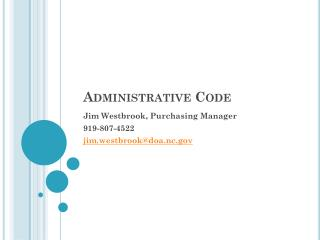 Administrative Code