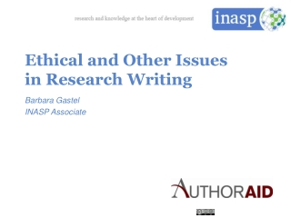 Ethics  Responsible Conduct  in Research