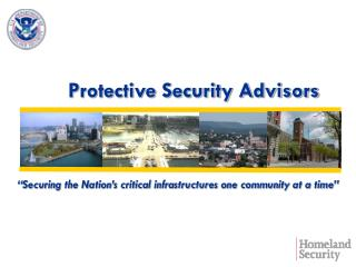 Protective Security Advisors