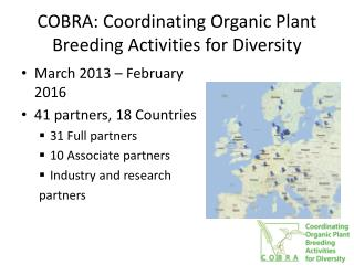 COBRA: Coordinating Organic Plant Breeding Activities for Diversity