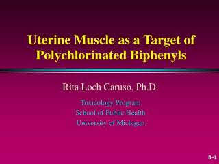 Uterine Muscle as a Target of Polychlorinated Biphenyls