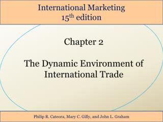 Chapter 2 The Dynamic Environment of  International Trade