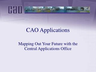CAO Applications