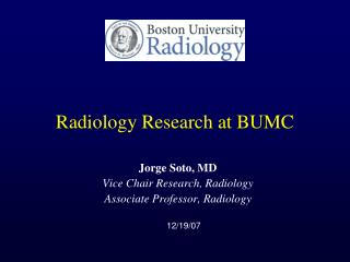 Radiology Research at BUMC