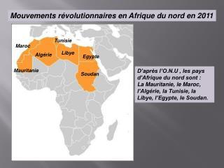 Mouvements révolutionnaires en Afrique du nord en 2011