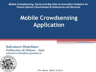 Mobile Crowdsensing Application