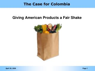 The Case for Colombia