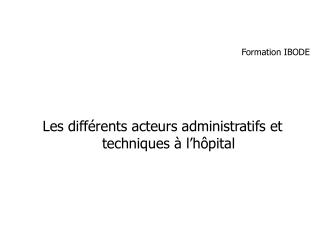 Formation IBODE
