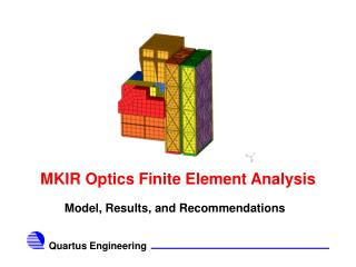 MKIR Optics Finite Element Analysis
