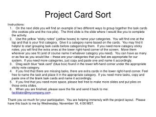 Project Card Sort