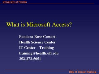 What is Microsoft Access?