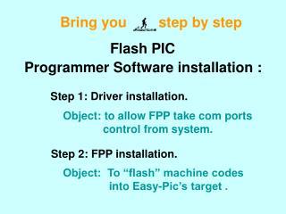 Programmer Software installation :