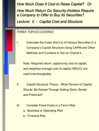 How Much Does It Cost to Raise Capital?   Or