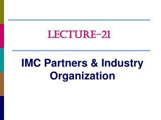 IMC Partners & Industry Organization