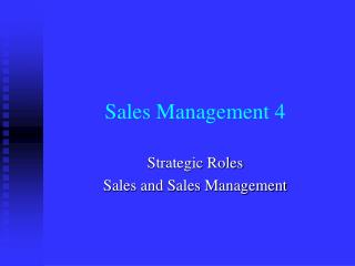 Sales Management 4