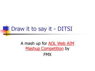 Draw it to say it - DITSI