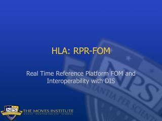 HLA: RPR-FOM
