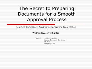 The Secret to Preparing Documents for a Smooth Approval Process